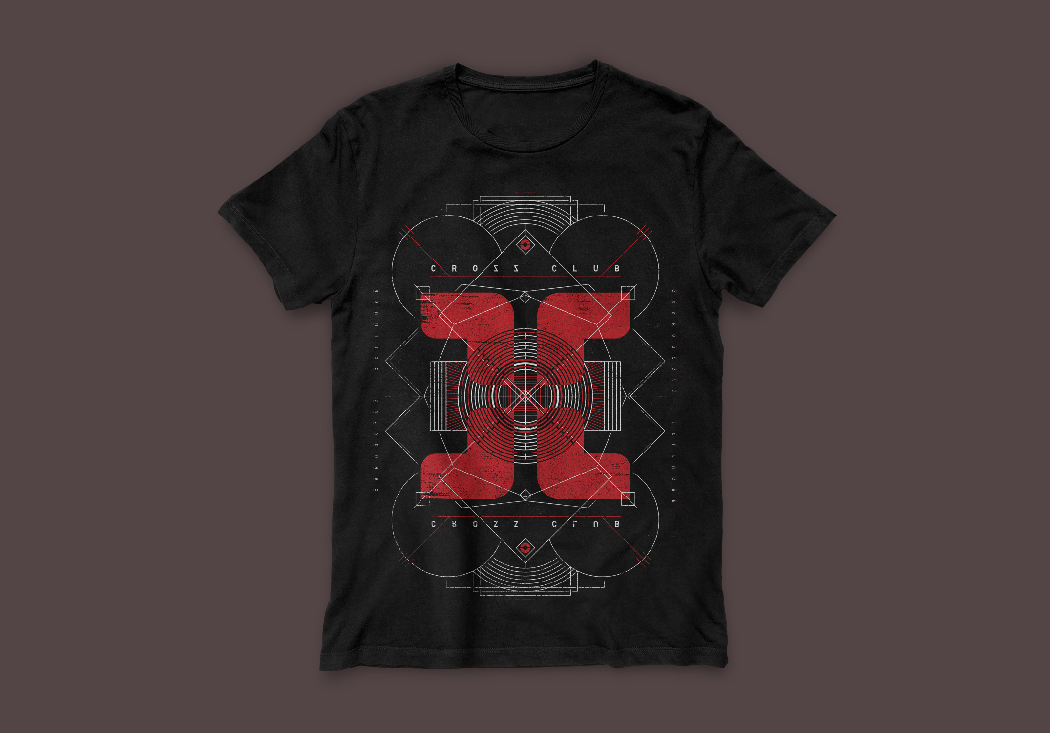 cross club t-shirt design